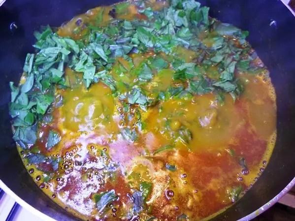 making oha soup