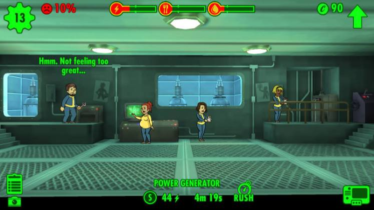 fallout shelter pregnant not feeling so great