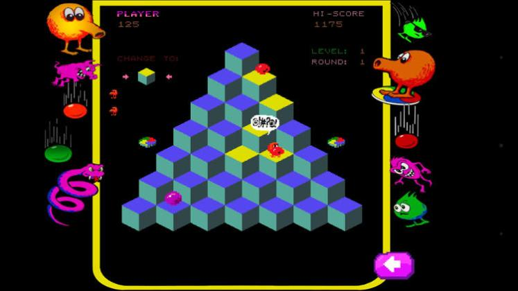 q bert rebooted i m still terrible at this game all night burger