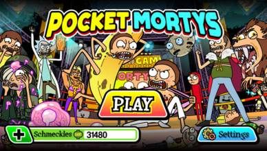 pocket mortys splash screen