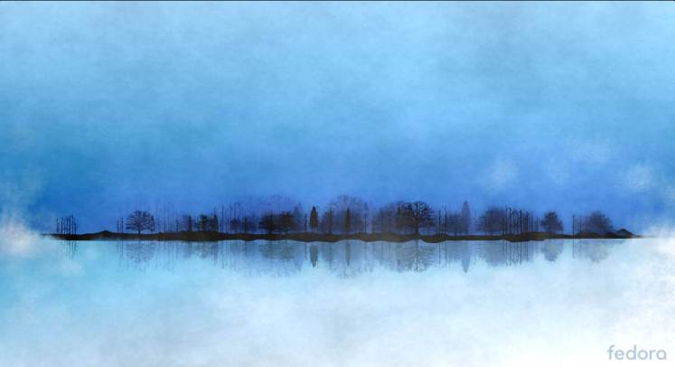 Fedora 26 trees lake paint