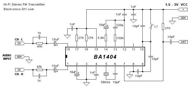 BA1404 Stereo FM Transmitte