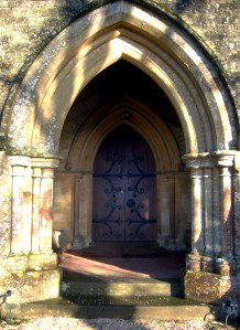 Entrance to Saint Michael and All Angels church.