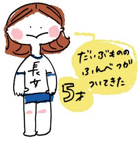 長女5歳年長さん