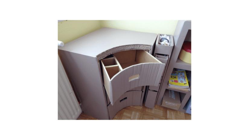 Pourquoi faire des meubles en carton ? Quand vous fabriquez du mobilier en carton, vous pouvez exprimer votre créativité