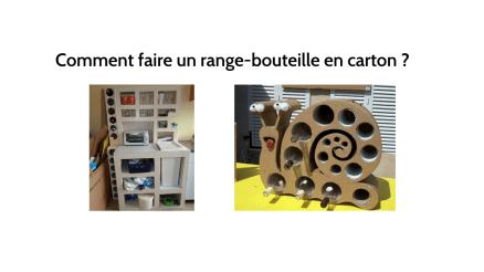 Comment fabriquer un range-bouteille en carton ?