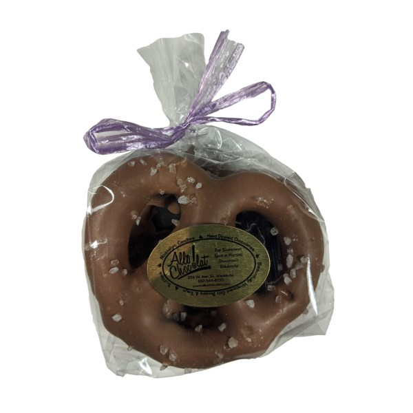 Chocolate-Covered Three-Ring Twist Pretzels