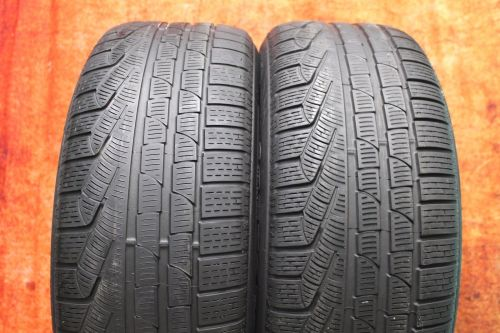 TWO-Used-24550R18-2455018-Pirelli-SottoZero-Passenger-Tires-Pair-4010-RFT-272636186553-1.jpg