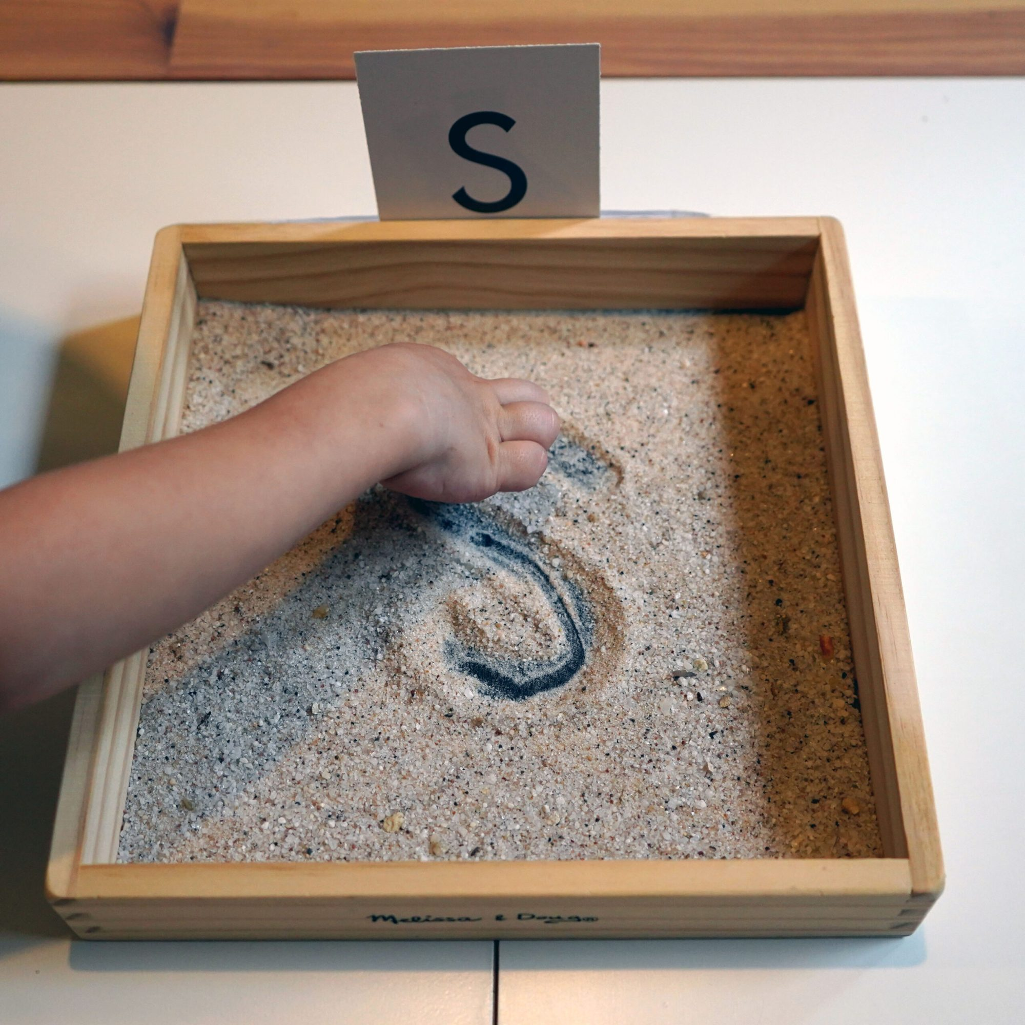 Sand Letter Tray Homemade DIY