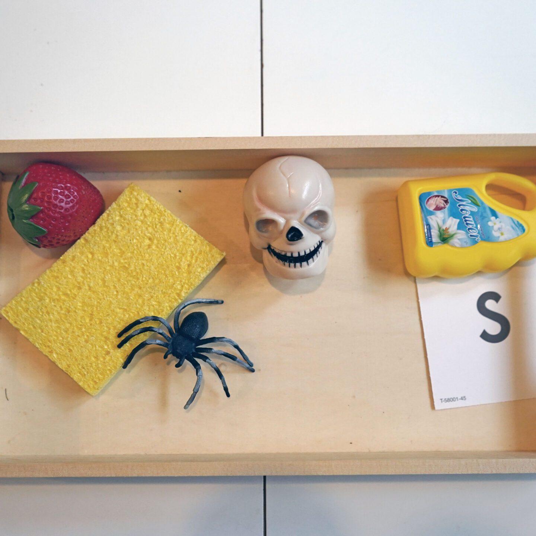 S scavenger hunt Halloween Montessori Activity
