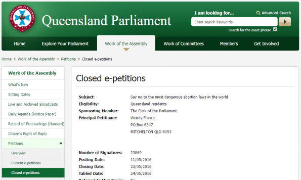 prolife-qld-epetition