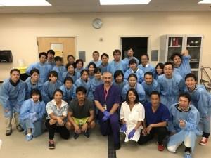 ハワイ大学での人体解剖実習