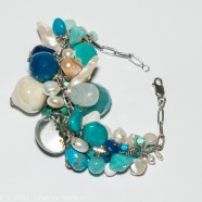 Bracelet Grappe Bleu & Argent