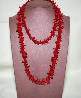Collier Corail Bambou 2 rangs