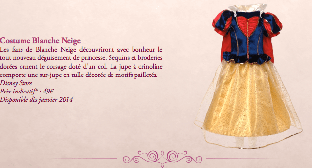 costume blanche neige