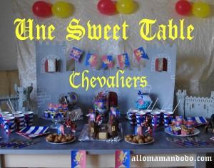 Sweet table déco anniversaire chevalier 1