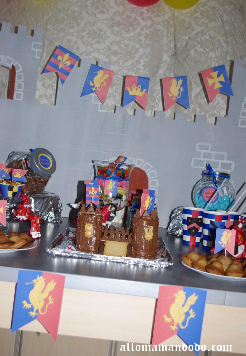 Sweet table déco anniversaire chevalier 2