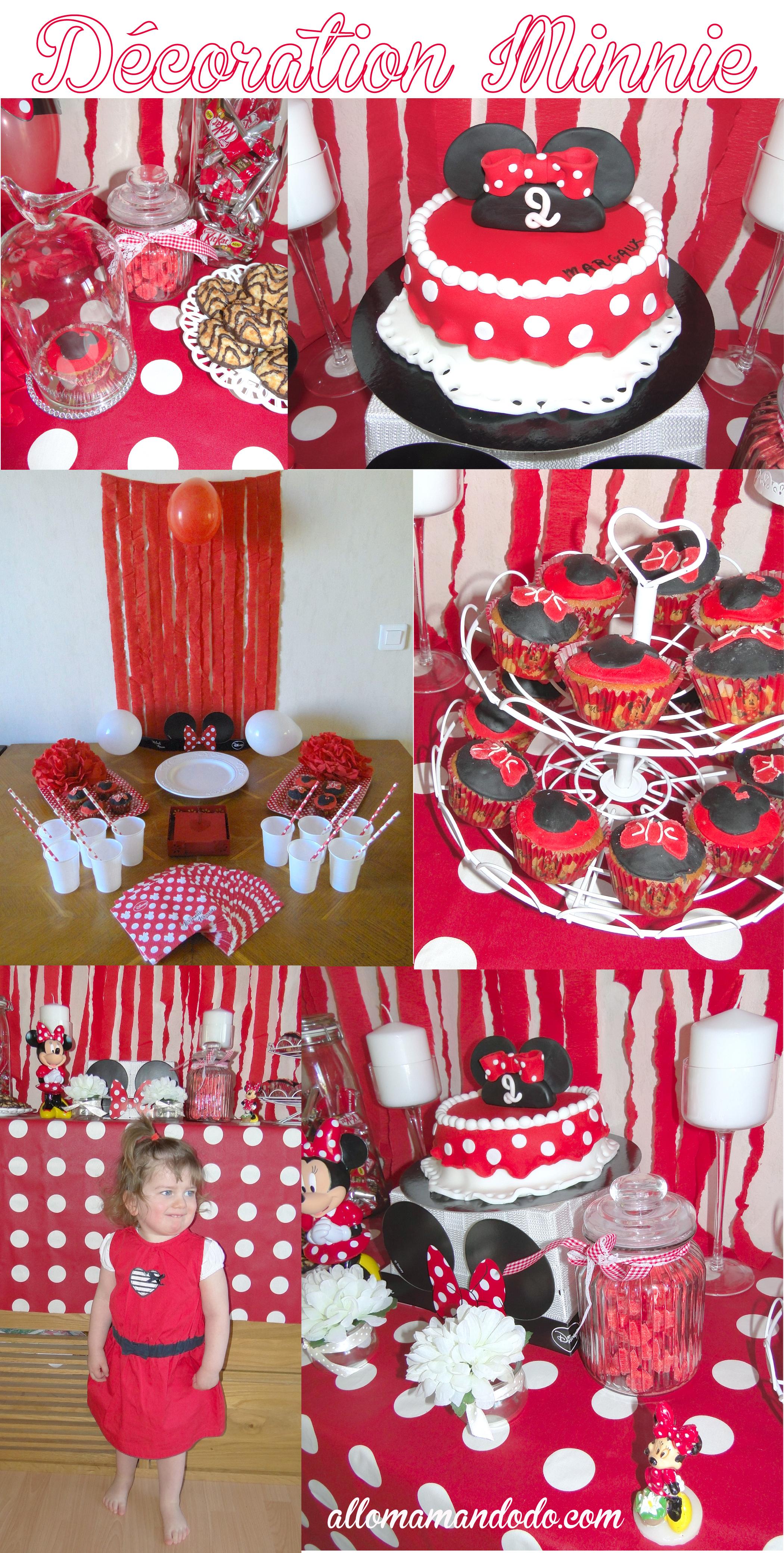 Un Anniversaire Minnie La D Coration De La Sweet Table De Ptitepomme Allo Maman Dodo