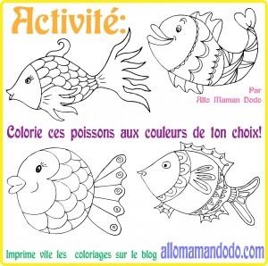 coloriage poisson d'avril