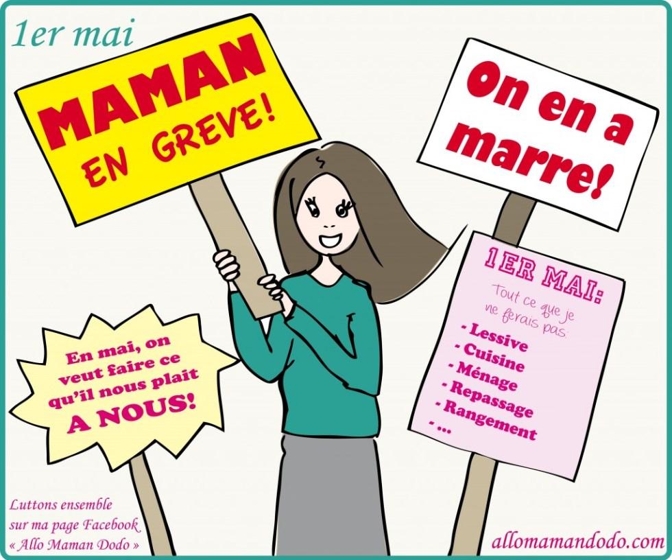 maman en grève image humour