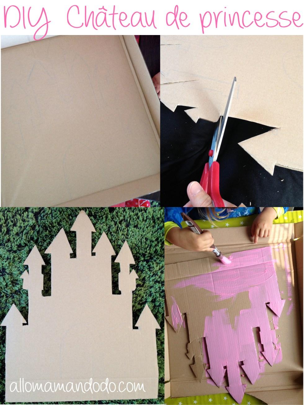 chateau de princesse sweet table carton 1