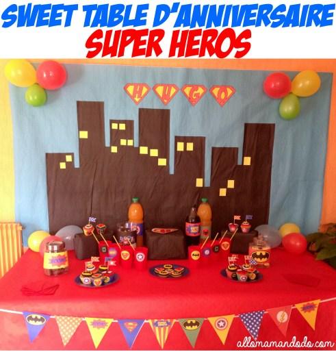 anniversaire super héros superman