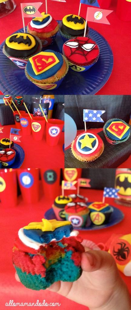cupcakes super héros