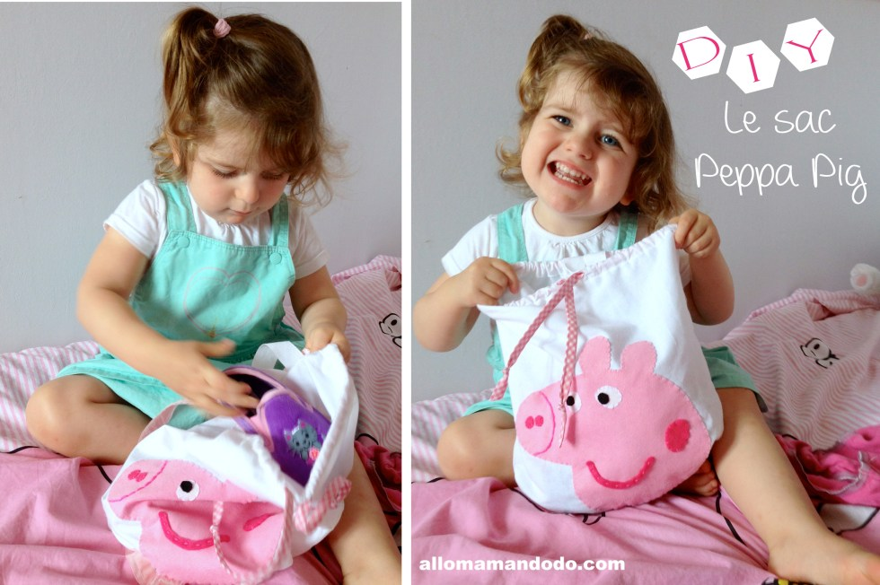 diy sac peppa pig