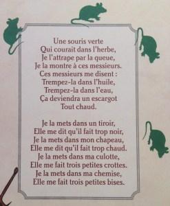 paroles une souris verte