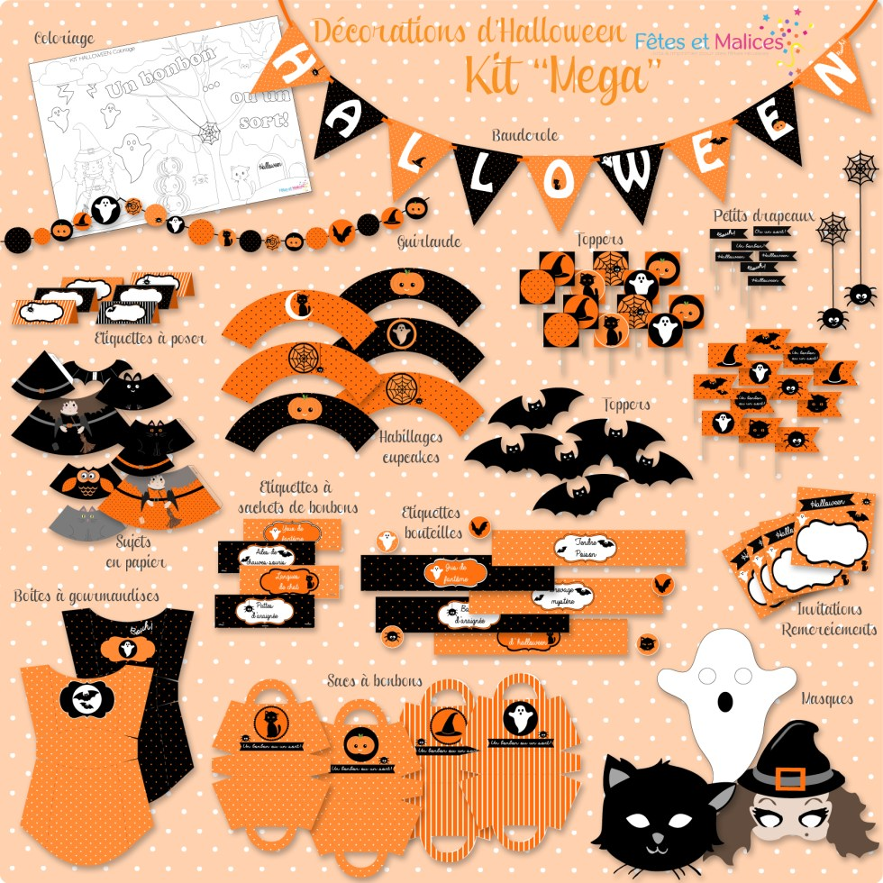 RECAP KIT MEGA HALLOWEEN FETES ET MALICES