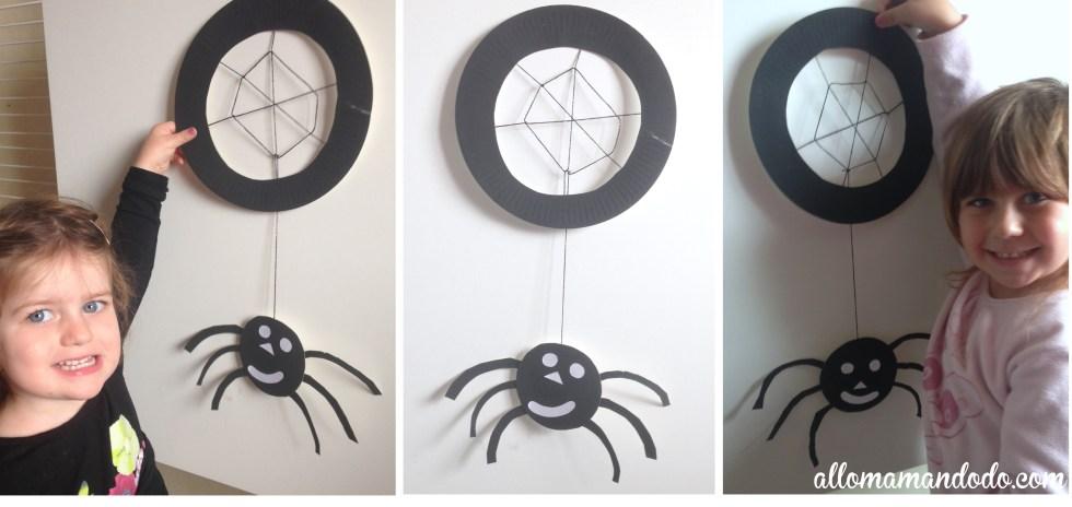 déco halloween enfant araignée