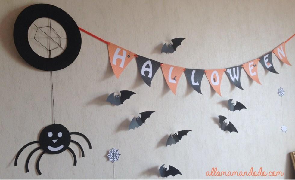 déco halloween mur papier