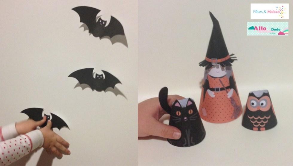 deco halloween sorcière chat chouette
