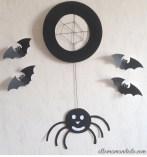 diy halloween araignée assiette carton