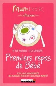 premiers repas bébé livre elsa grangier mum book