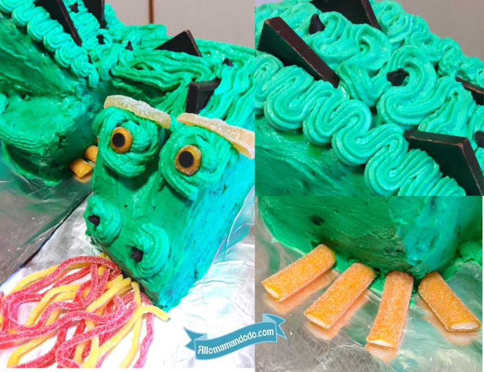 dragon cake gateau détails bonbons