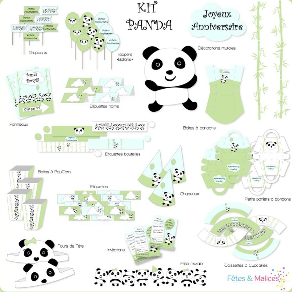kit panda a imprimer