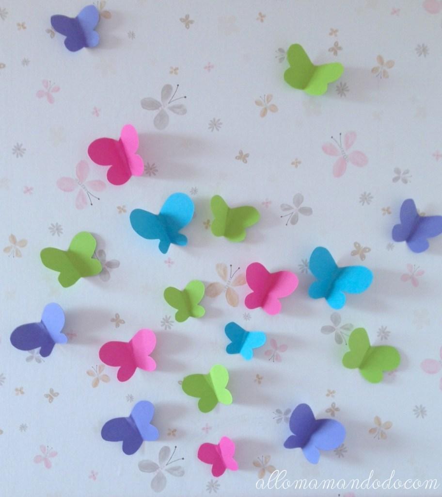 papillons en papier