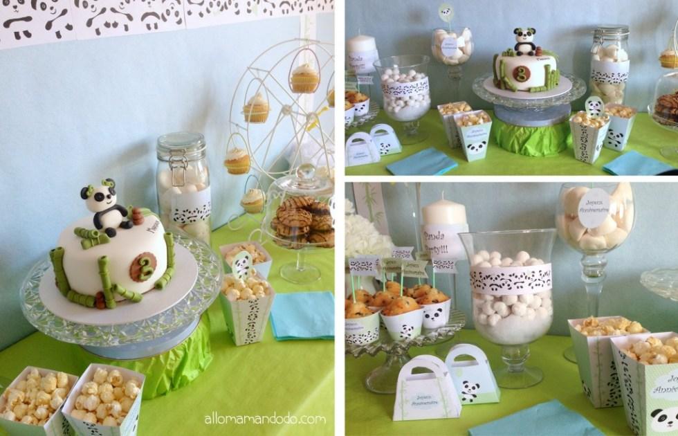 sweet table panda anniversaire