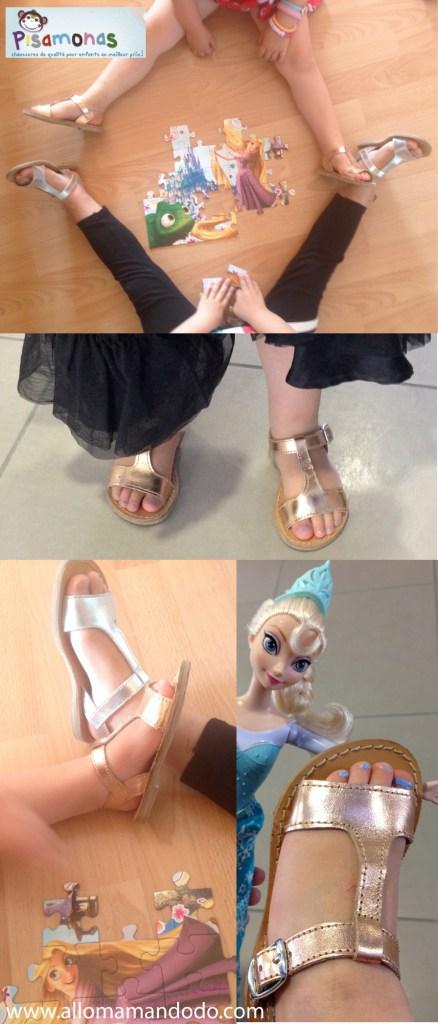 pisamonas chaussures filles