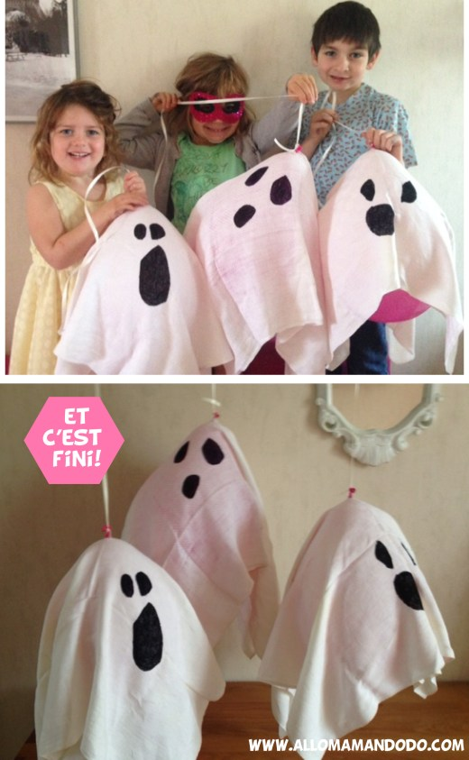 activité craft kids ghost halloween