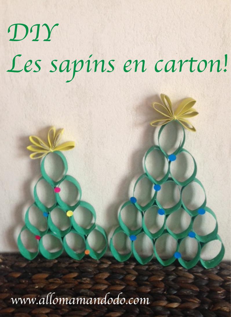 Diy Les Sapins De Noel En Carton Ne Jettez Plus Vos Rouleaux De