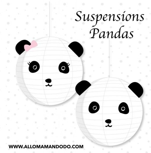 suspension DIY panda
