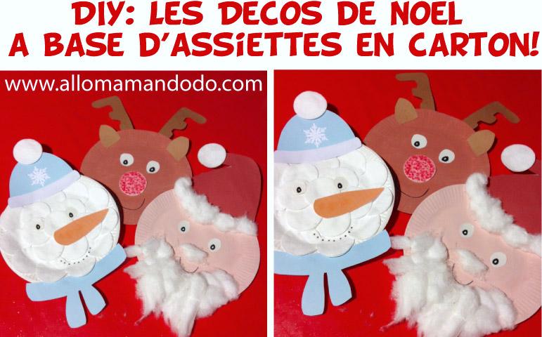 Des Décos De Noël à Base Dassiette En Carton Diy Gratuit à