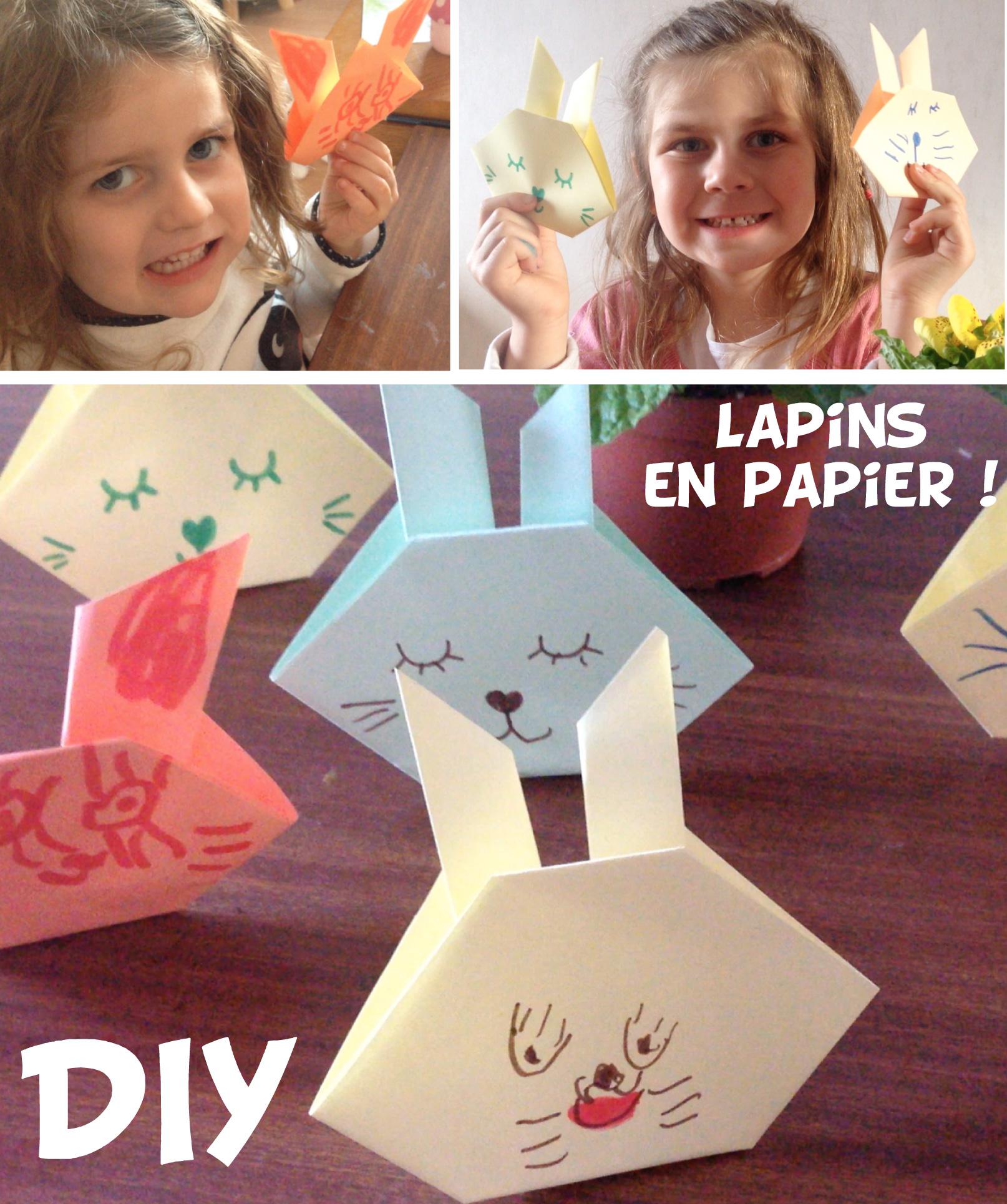 Diy Lapin En Papier Vidéo Origami Facile Allo Maman Dodo