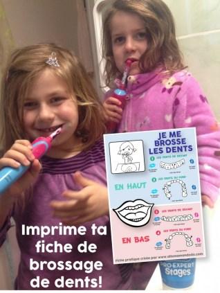 fiche brosser dents enfants