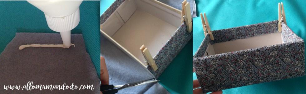 recouvrir boite tissu