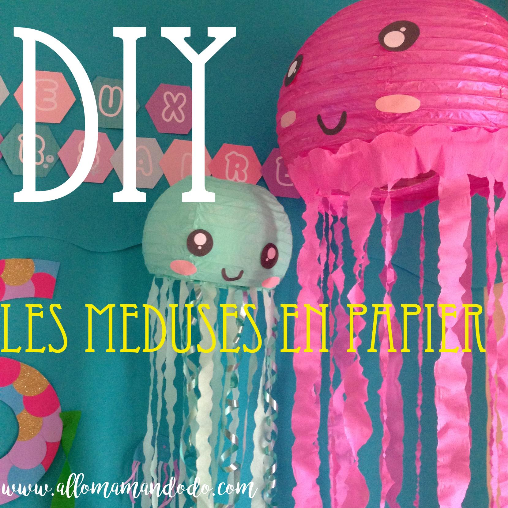 Comment Faire Des Boules En Papier diy: la méduse en papier - allo maman dodo