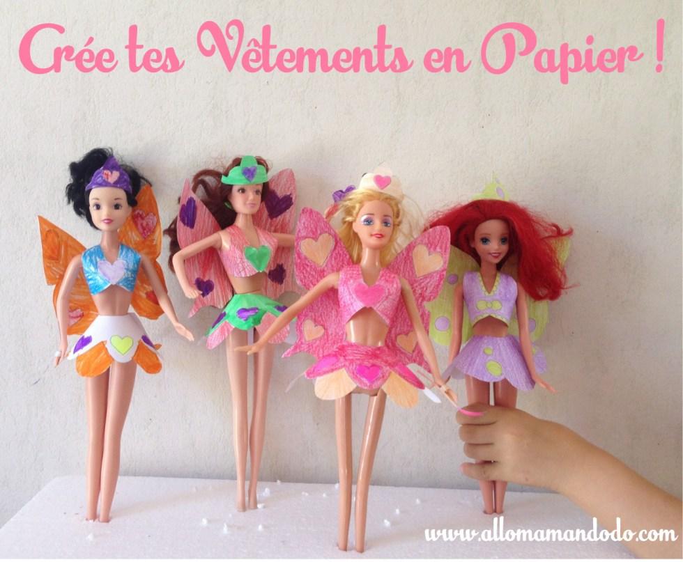 activité fee barbie papier imprimer