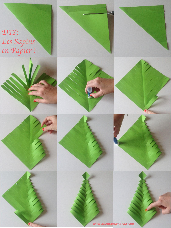 Fabriquer Sapin De Noel En Papier fabrique des sapins de noël en papier (diy facile et rapide